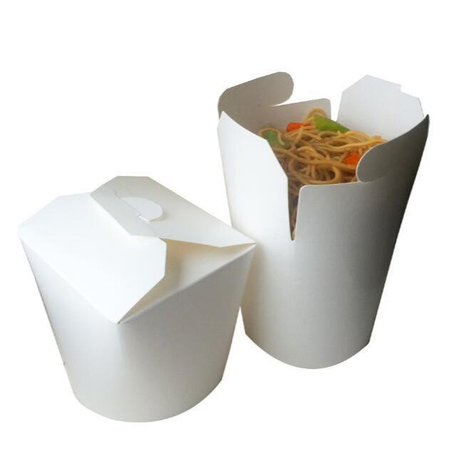 Paper packaging box - disposable kraft paper box/take-away packaging paper box