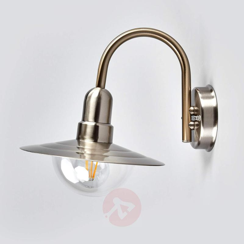 Classic LED outdoor wall light Fedra in steel - stainless-steel-outdoor-wall-lights