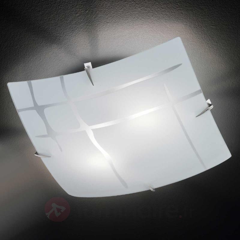 Plafonnier carré GINA en verre - Plafonniers en verre