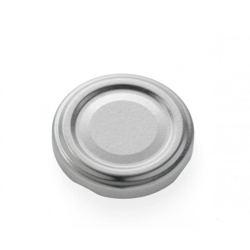 100 Capsules TO 53 mm argent pasteurisables - ARGENT