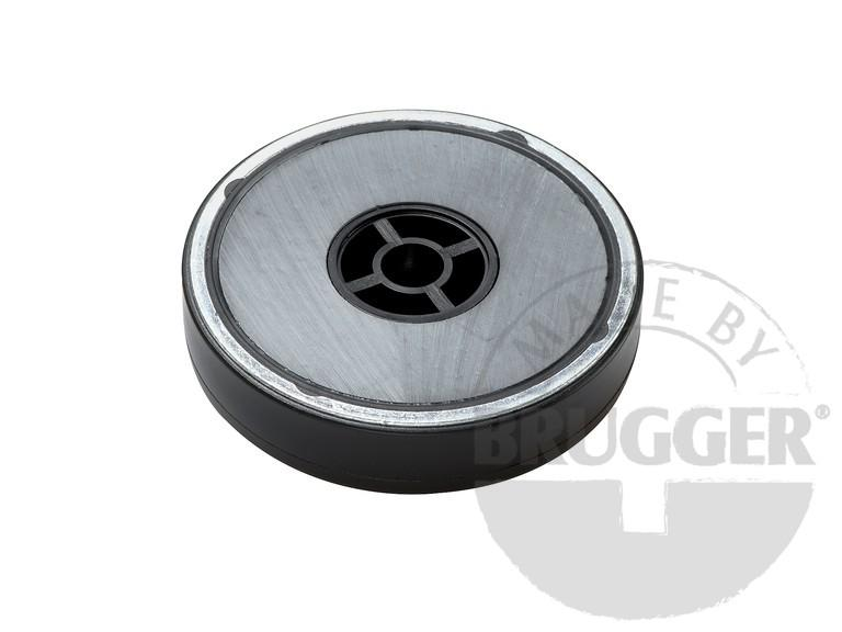 Flat pot magnets hard ferrite, with cylinder bore - null