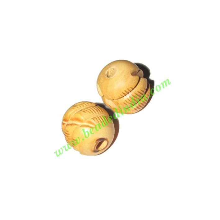 Natural Color Wooden Beads, size 16mm, weight approx 1.43 gr - Natural Color Wooden Beads, size 16mm, weight approx 1.43 grams