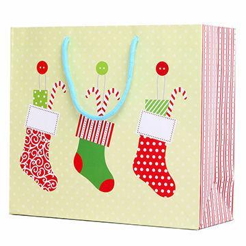Cheap christmas hand bag with stockings