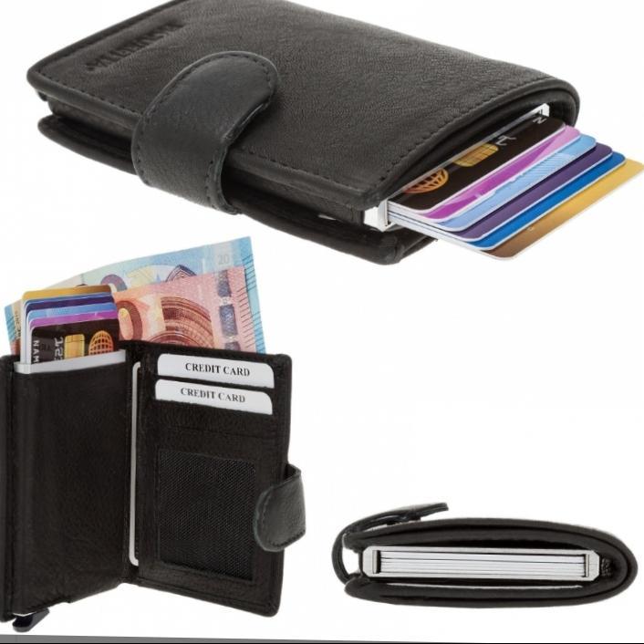 3207 Credit Card Mini wallet RFID - Leather Credit Card Holder mini Wallet