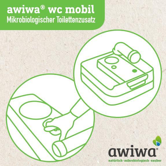 wc mobil – mikrobiologischer Toilettenzusatz - Camping Reiniger