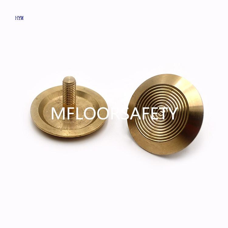 Brass Line Surface Stud - Tactile indicator