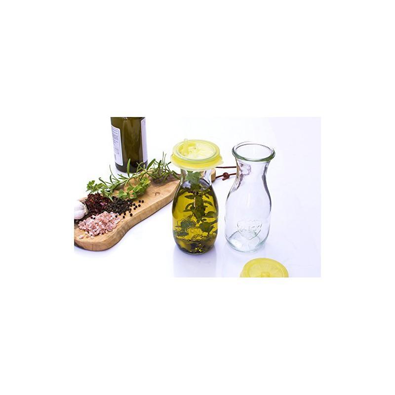 Vasi WECK FLACON® - 4 bottiglie in vetro WECK Flacon 290 ml senza coperchio né