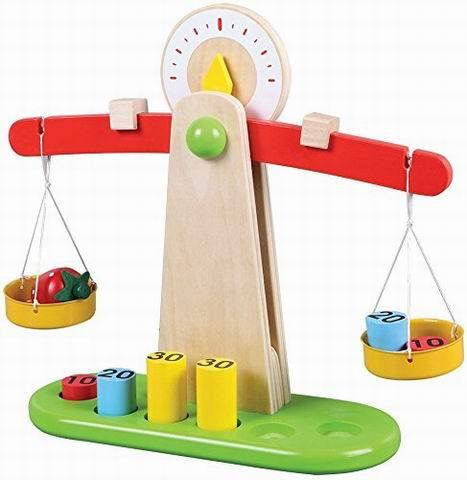 Wooden Educational Weighing Balancing Scale - Wooden Toys