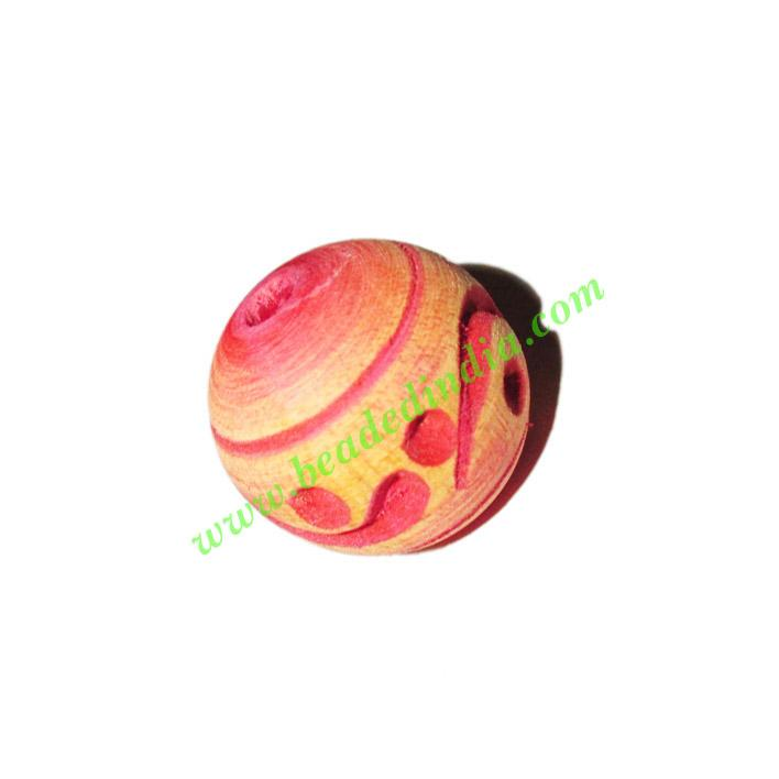 Wooden Carved Beads, size 19mm, weight approx 2.52 grams - Wooden Carved Beads, size 19mm, weight approx 2.52 grams