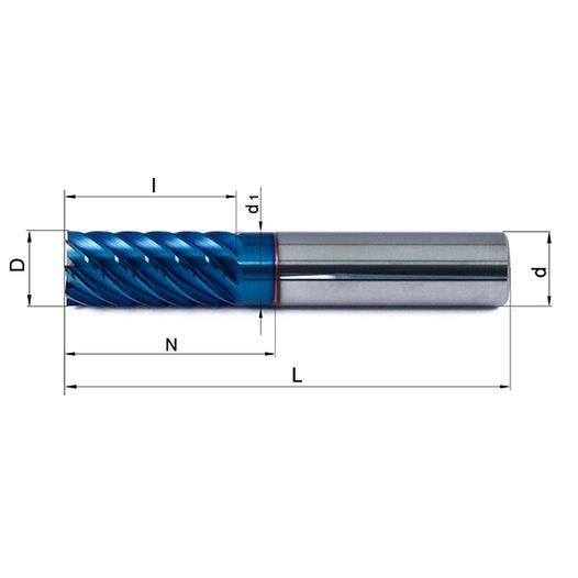 Vollhartmetallfräser VHM 655-06 HX63 - null