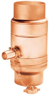water collector with hose adapter set - copper - water collectors