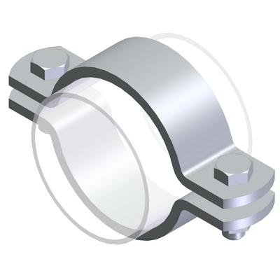 Pipe clamps - Type SL similar to DIN 3567-A, 1.4301