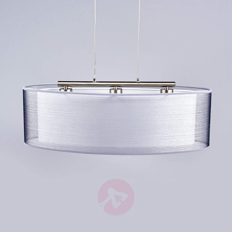 Elongated Nica fabric pendant lamp - indoor-lighting