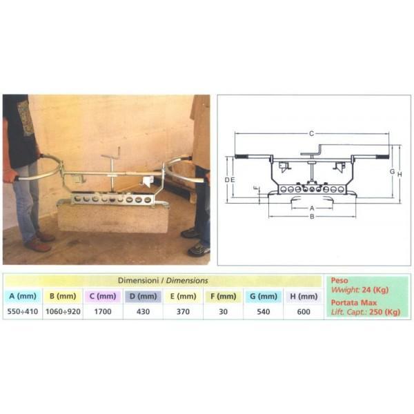 Pince à bordures PCRB 50cm/1m - null