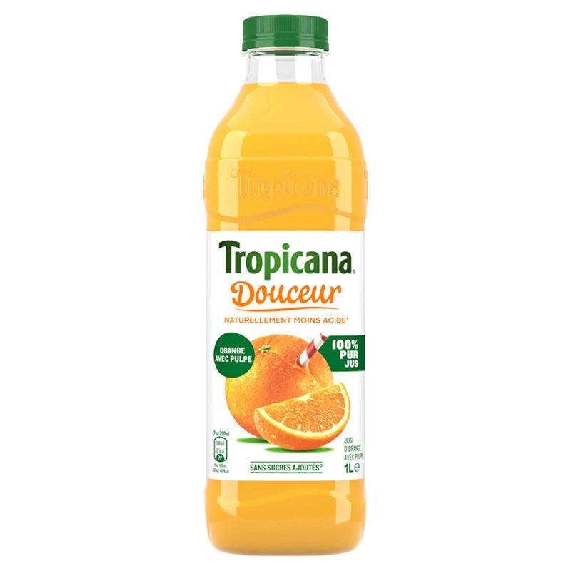 Jus d'orange avec pulpe douceur 1L - TROPICANA - Jus d'orange avec pulpe douceur 1L - TROPICANA