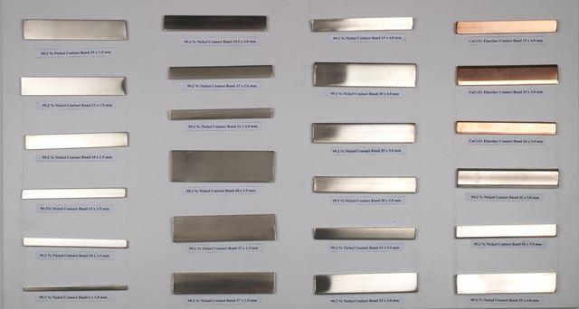 Никелевые контактные ленты, Волочильные конуса и ролики - Никелевые контактные ленты- Зап.части для роликов -99,2% Никель, Никель 200