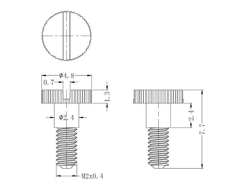 Knurled head screw - null