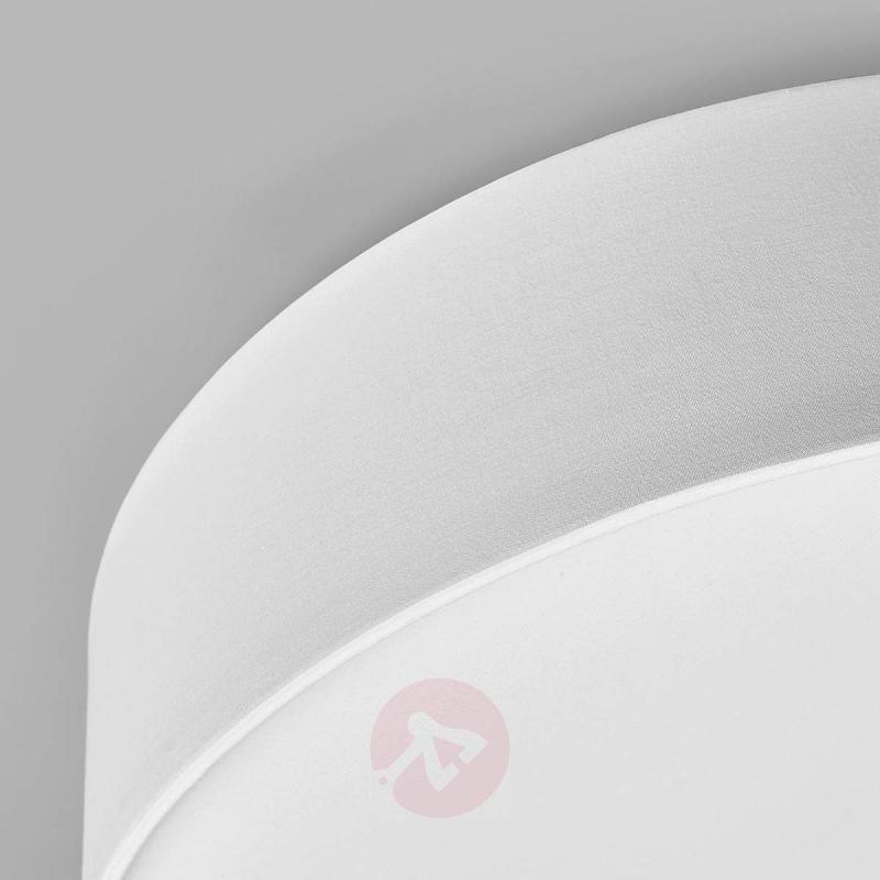 White fabric LED ceiling light Sebatin - Ceiling Lights