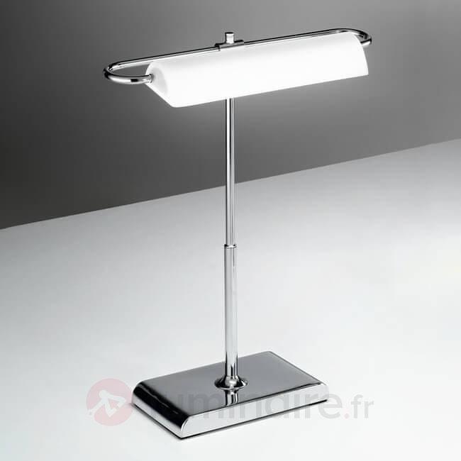 Lampe à poser LED chromée Wallstreet - Lampes de bureau LED