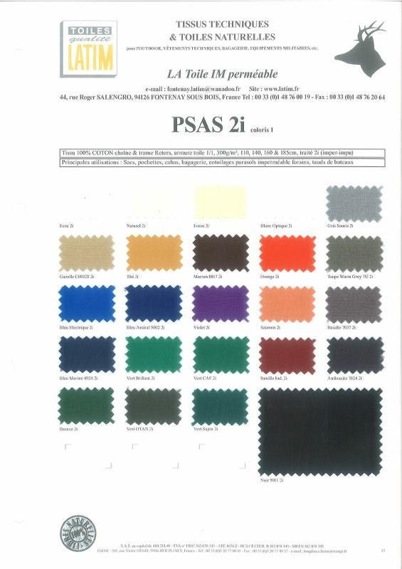 PSAS 2i coloris 1 - Toiles naturelles