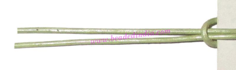 Leather Cords 0.5mm (half mm) round, metallic color - lawn. - Leather Cords 0.5mm (half mm) round, metallic color - lawn.