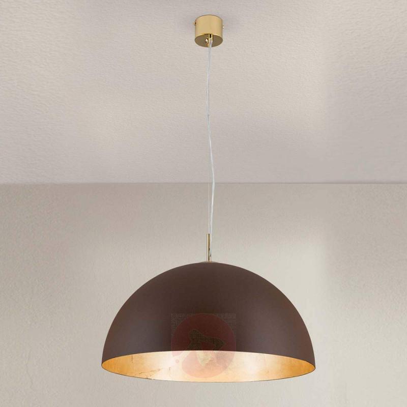 Brown-gold Nerry pendant light - indoor-lighting