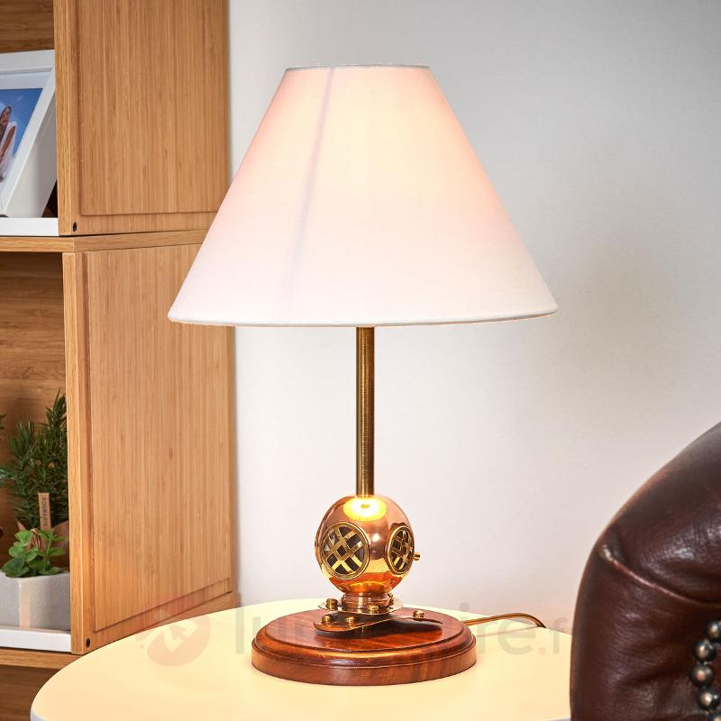 Extraordinaire lampe à poser DIVER bois - Lampes à poser en bois