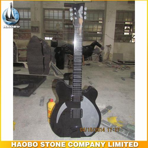 Modern 100% Hand Carved Shanxi Black Granite Guitar Designs