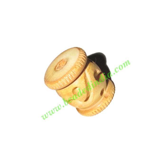 Natural Color Wooden Beads, size 16x19mm, weight approx 2.2  - Natural Color Wooden Beads, size 16x19mm, weight approx 2.2 grams