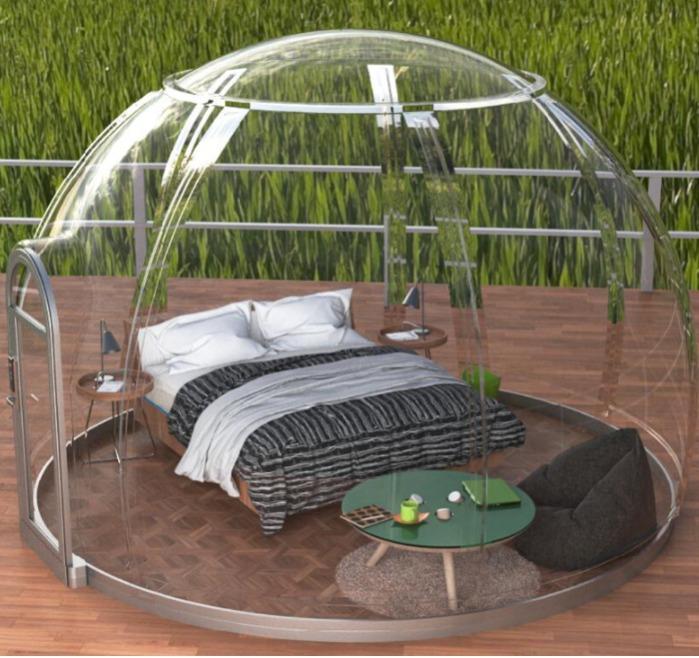 movable villa glass house - light steel villa vacation