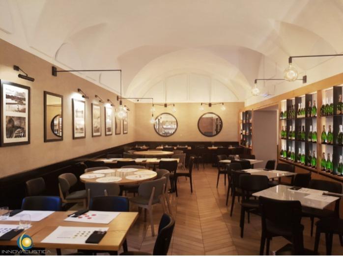 Correzione acustica locali pubblici - Trattamenti acustici per ristoranti, bar, alberghi