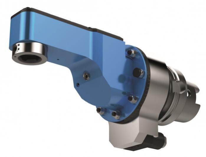 Schmaler Winkelkopf SLIM WGX - CNC Aggregat / Winkelkopf zur Bearbeitung von Metall