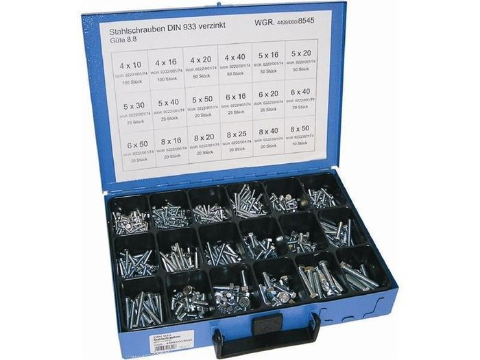 Sortiment Koffer & Boxen - Dresselhaus 8545 Stahlschraube-Sortiment DIN 933 8.8