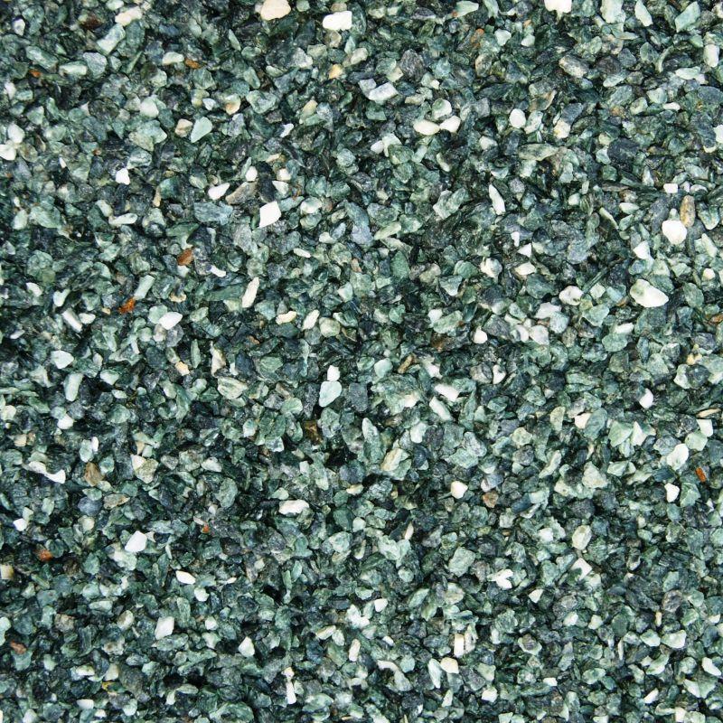 Sac de gravier décoratif - gravier de marbre, Vert, vert des Alpes, au détail