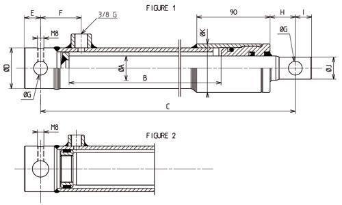 Verin hydraulique  - simple effet standard