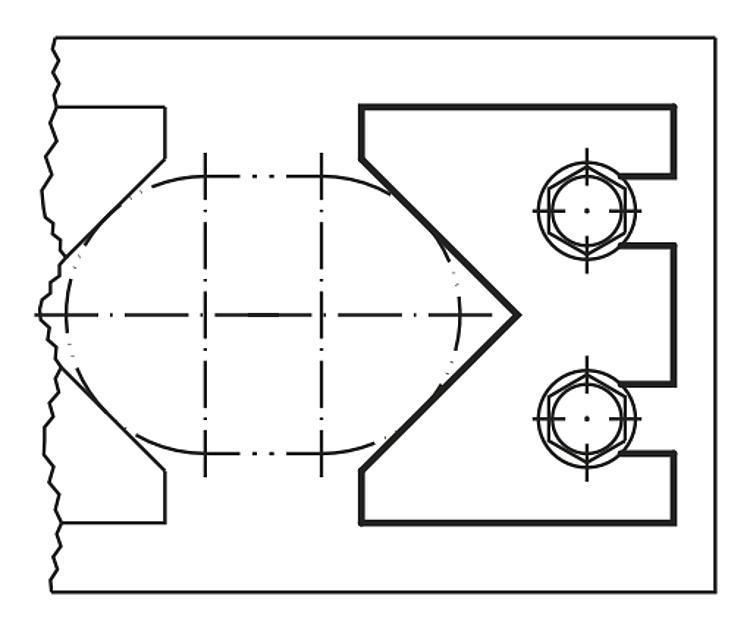 Vé de centrage - Élément de serrage et de centrage