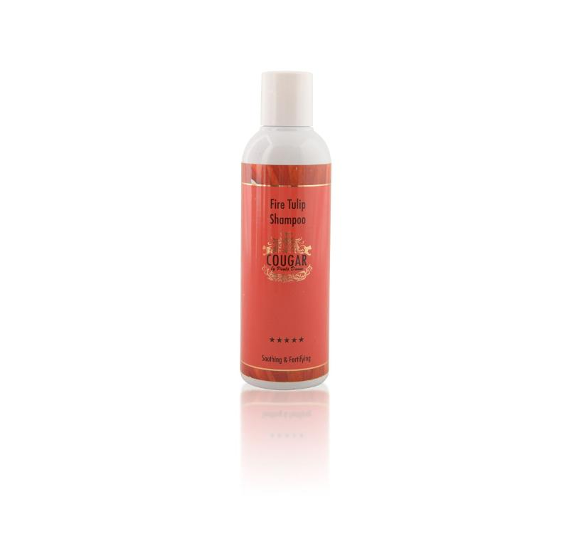 Cougar Beauty Fire Tulip shampoo Made in the UK
