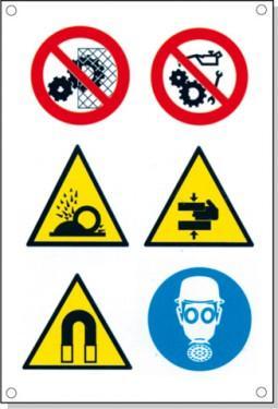 Cartelli pericolo rischi residui C - null