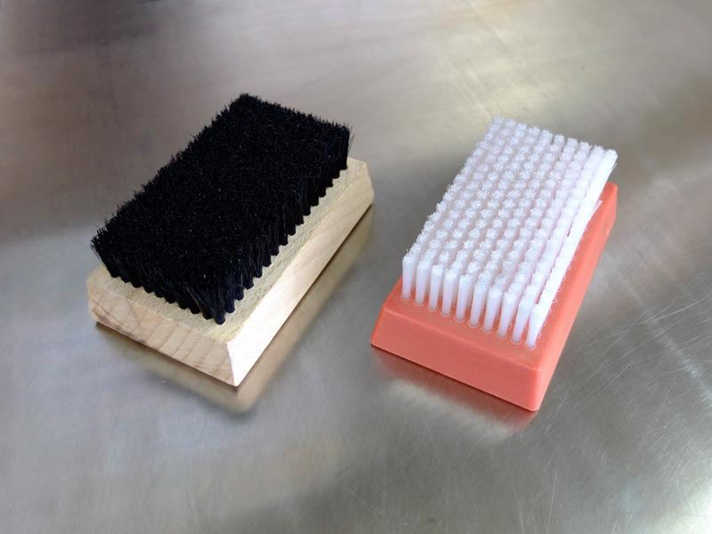 Plate cleaning brush, rectangular - Accessories for plate cleaning