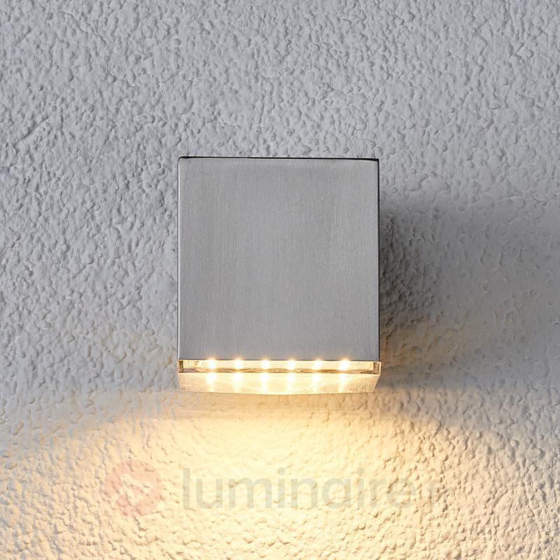 Applique d'extérieur LED Lydia compacte en inox - Appliques d'extérieur LED