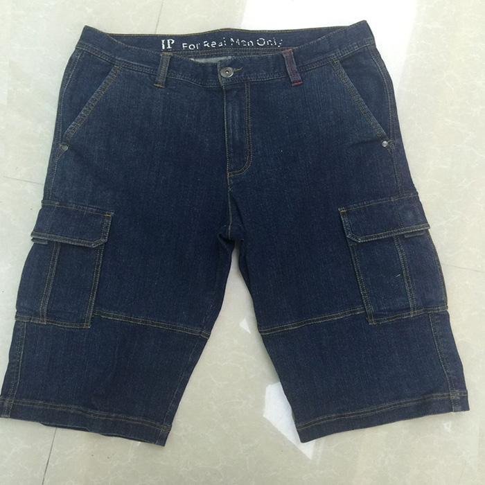 Stonewashed blue middle pants -