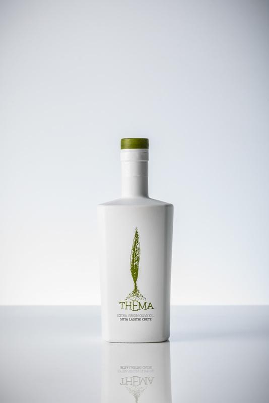 Thema extra virgin olive oil - Λευκή φιάλη Decanter Contesa