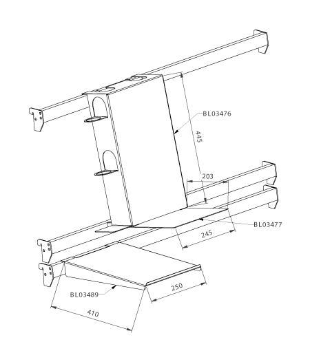 Modular shop rack systems & instore interior shelving design - Vacuum cleaner presentation