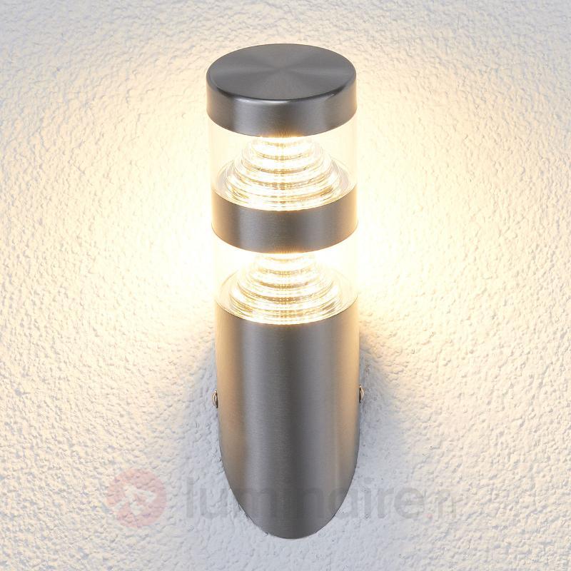 Applique d'extérieur LED Lanea inox forme oblique - Appliques d'extérieur LED