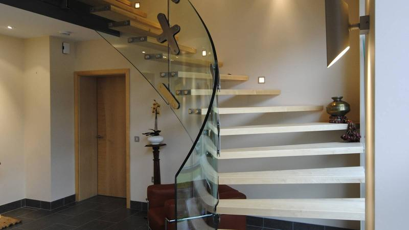 Stairs Treppen helical glass stairs mistral curve siller treppen germany