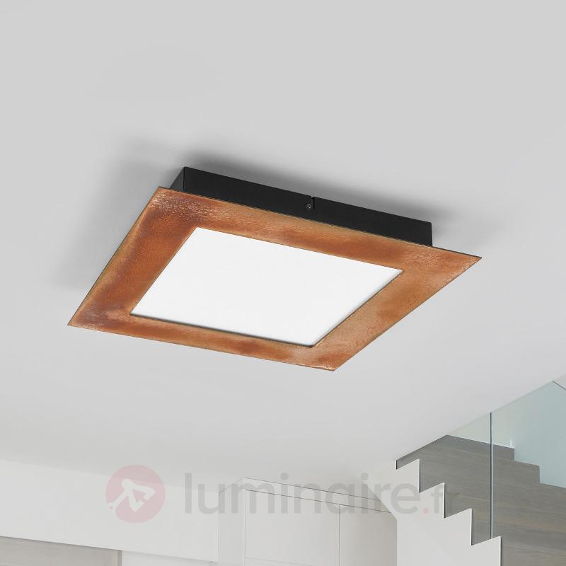 Plafonnier couleur rouille LED Deno - Plafonniers LED