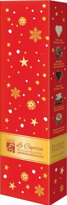 EMOTI Assorted Chocolates, RED-GOLD 65g. SKU: 015347X -