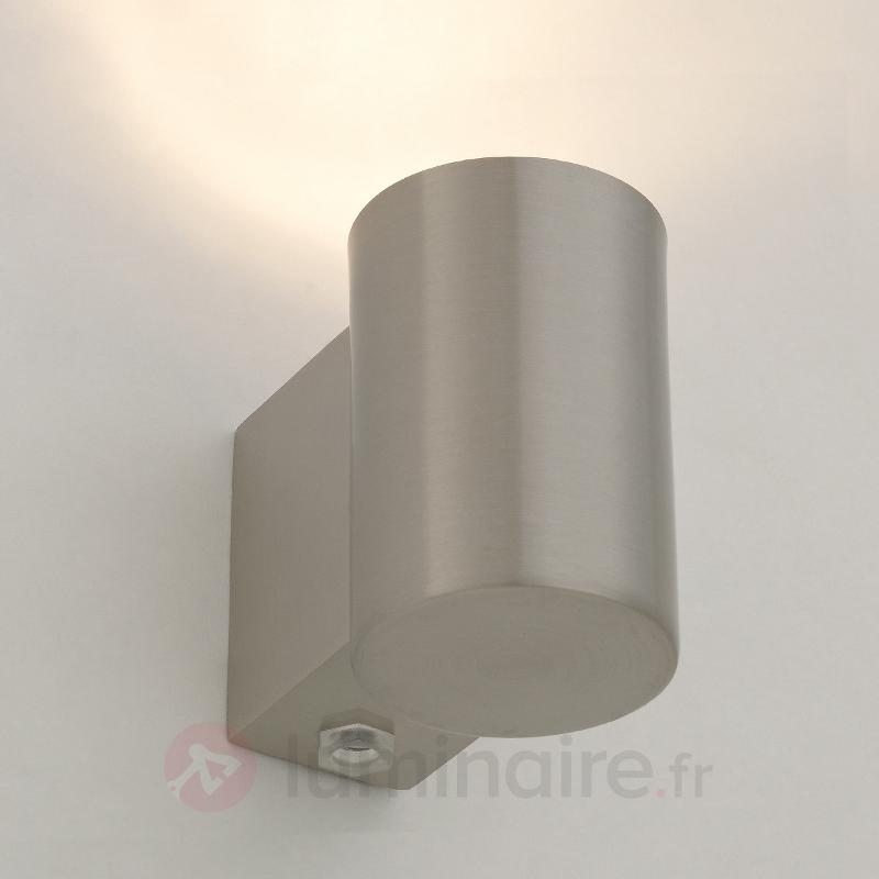 Applique halogène Josse, nickel mat - Appliques chromées/nickel/inox