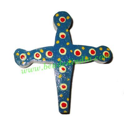 Handmade wooden cross (christian) pendants, size : 54x51x8mm - Handmade wooden cross (christian) pendants, size : 54x51x8mm