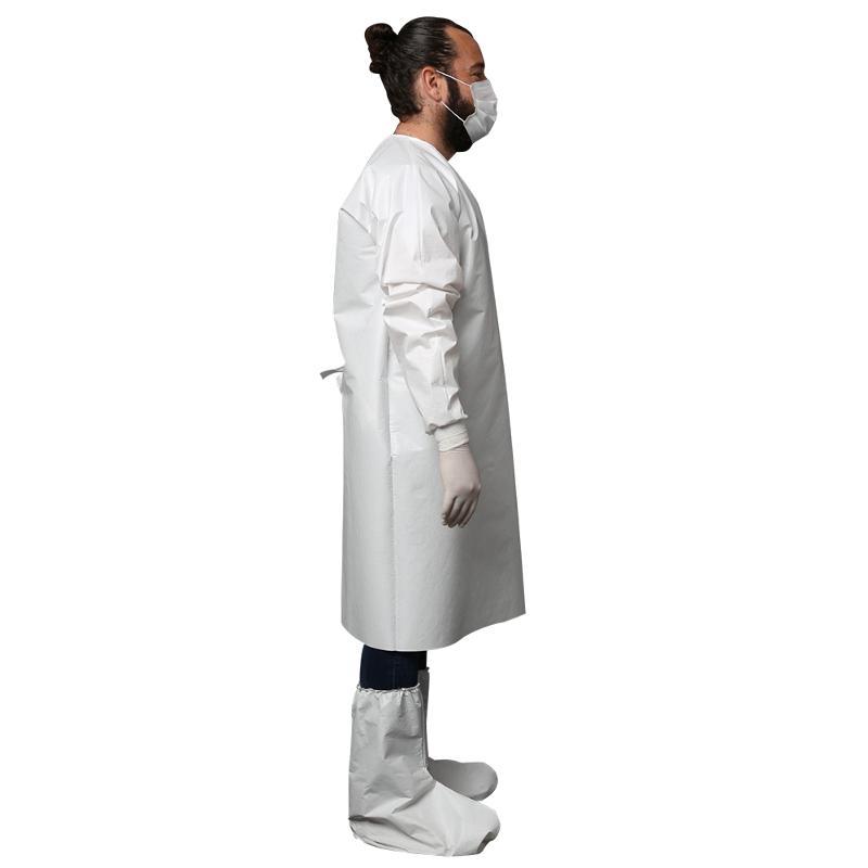 Medisafe Vlies Schutzkittel mit PE Beschichtung, mit... - Sets